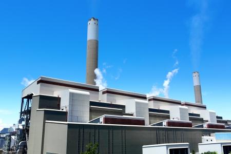 bridger: electric power plant Stock Photo