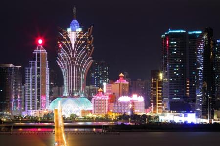 macau: Macau at night Stock Photo