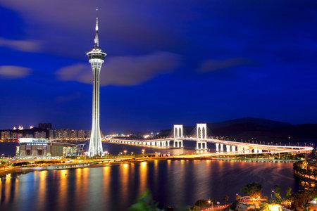 Macau city at night Redakční