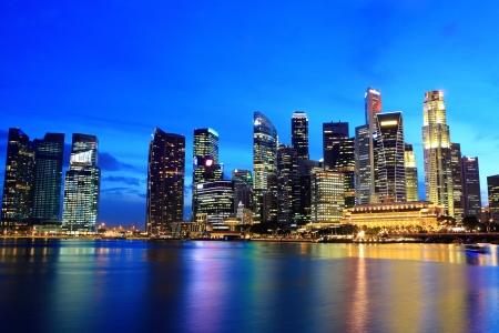 commercial district: Singapore cityscape