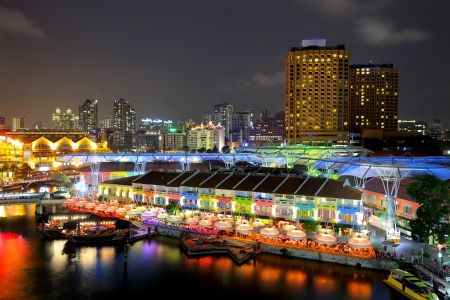 Singapore by night Stock Photo - 15494801
