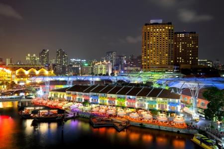 Singapore by night Stock Photo - 15494801