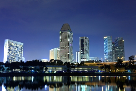 Singapore by night Stock Photo - 15494753