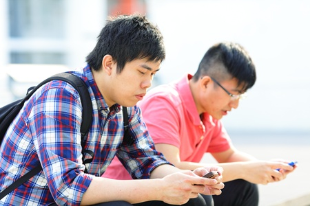 friend using phone photo