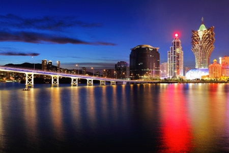 Macau at night Reklamní fotografie