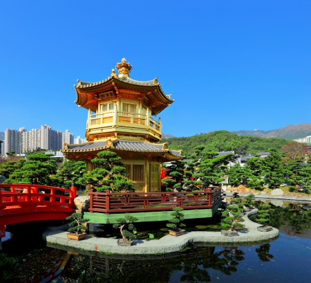 chinese garden with pavilion Stock Photo - 15475868