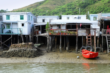 Tai O fishing village in Hong Kong photo