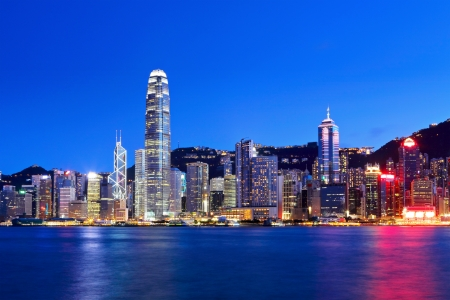 Hong Kong por la noche photo