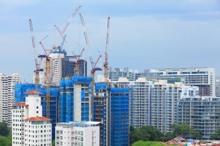 construction site in Singapore photo