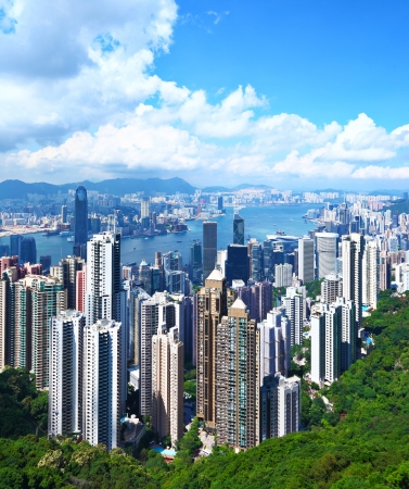 kong river: Hong Kong Skyline