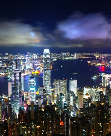 hong kong night: Hong Kong City Night
