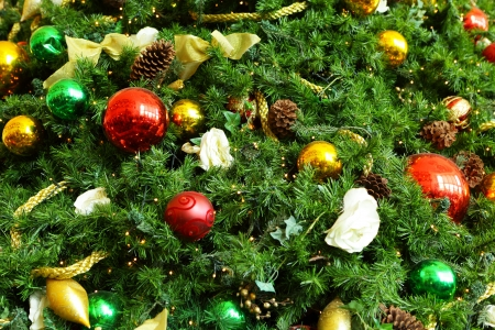 Christmas tree ornaments photo