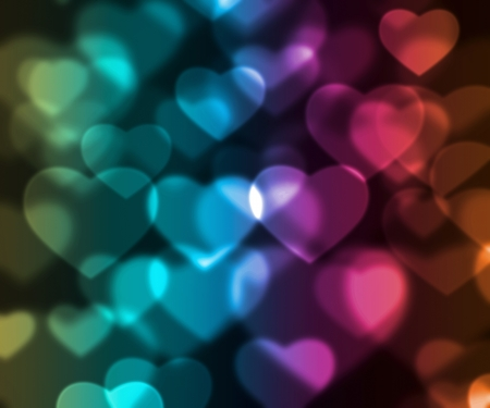 hearts background: colorful hearts background