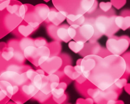 Abstract heart background photo