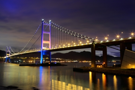 Tsing Ma Bridge at Hong kong photo