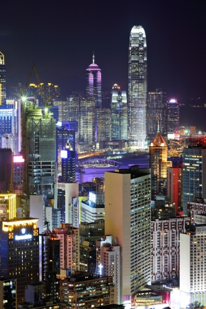 ifc: Hong Kong night Stock Photo