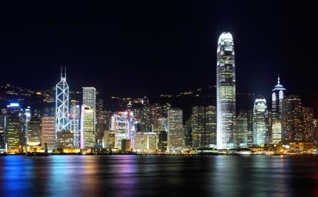 Hong Kong skyline at night Stock Photo - 16248181