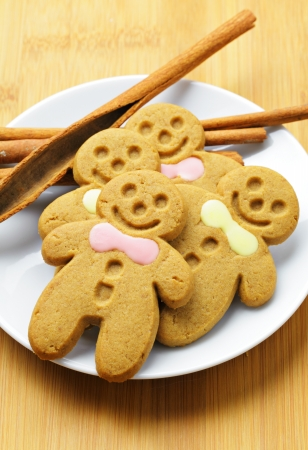 Christmas gingerbread men photo