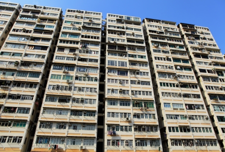 apartment building in Hong Kong Stock Photo - 17118646