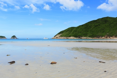 Sai Wan beach in Hong Kong photo