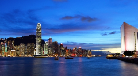 highriser: Hong Kong night  Stock Photo