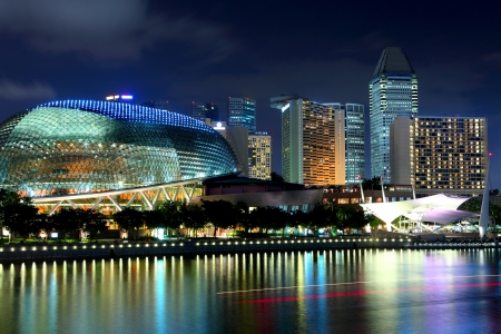 Singapore skyline night