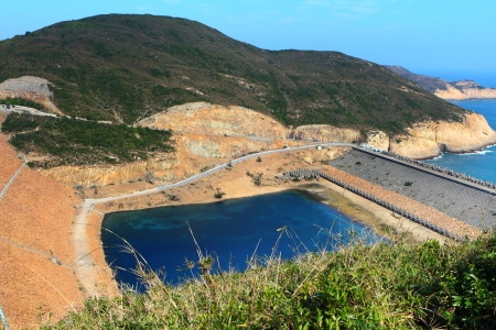 Hong Kong Geo Park , High Island Reservoir Stock Photo - 17433021