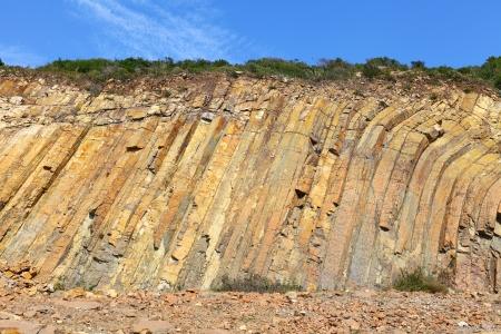 geologic: Hong Kong Geo Park , hexagonal column Stock Photo