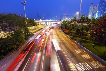 crowd tail: traffic jam at night