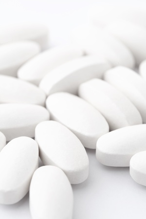 white pills Stock Photo - 18687079