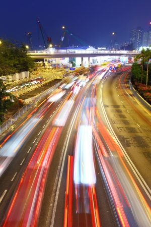 traffic jam at night  Stock Photo - 18687256