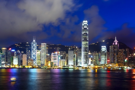 marina life: Hong Kong skyline at night