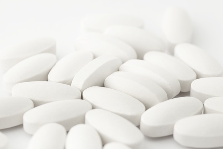 white tablets Stock Photo - 19144032