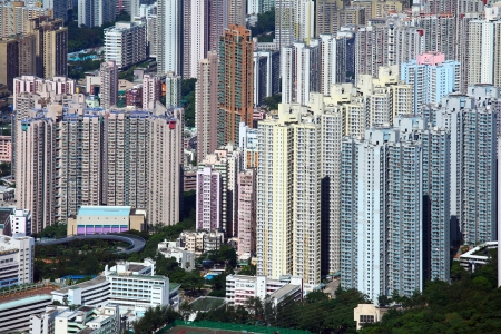apartment block in Hong Kong Stock Photo - 19294674