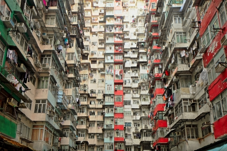 poverty: Old apartment in Hong Kong Editorial