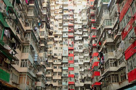 slum: Old apartment in Hong Kong Editorial