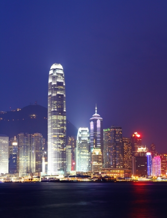 highriser: Hong Kong skyline at night