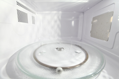 Inside view of microwave oven photo