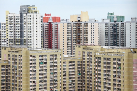 apartment block in Hong Kong Stock Photo - 19404990