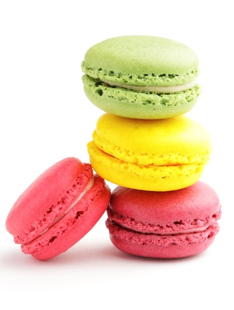 Colored macaron photo