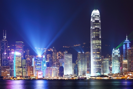Symphony of light in Hong Kong  photo