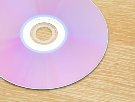 dvdrw: CD on table