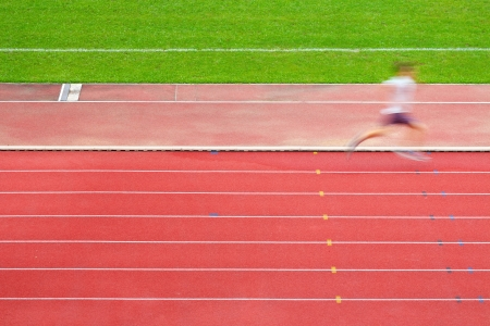 Runner on race track  photo