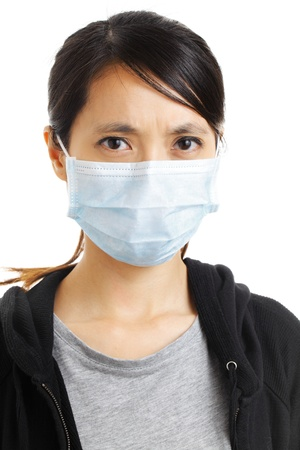 Asian woman with face mask photo