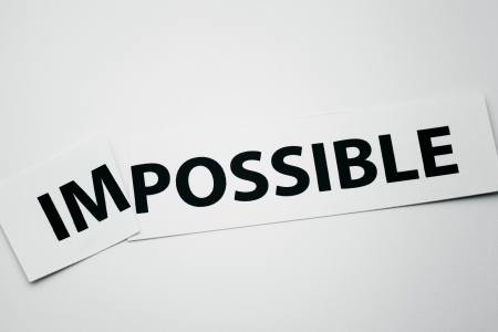 feasible: Word impossible cutted to be possible