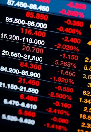 Stock market index drop dramatically Stock Photo - 19901932