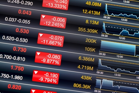Recession of stock market Stock Photo - 19902006