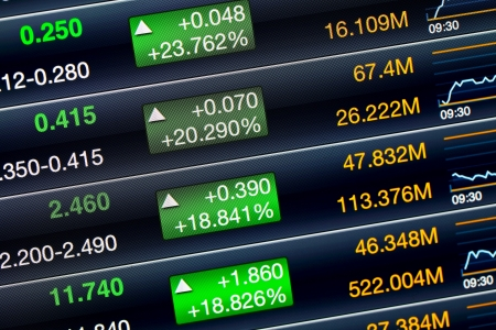digital stock: Increases of the stock market