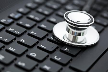 Stethoscope on keyboard photo