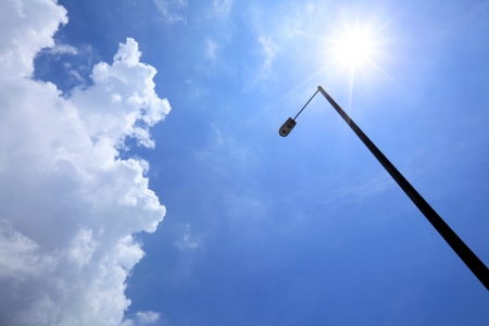Sunny day with lighting pole Stock Photo - 20056643